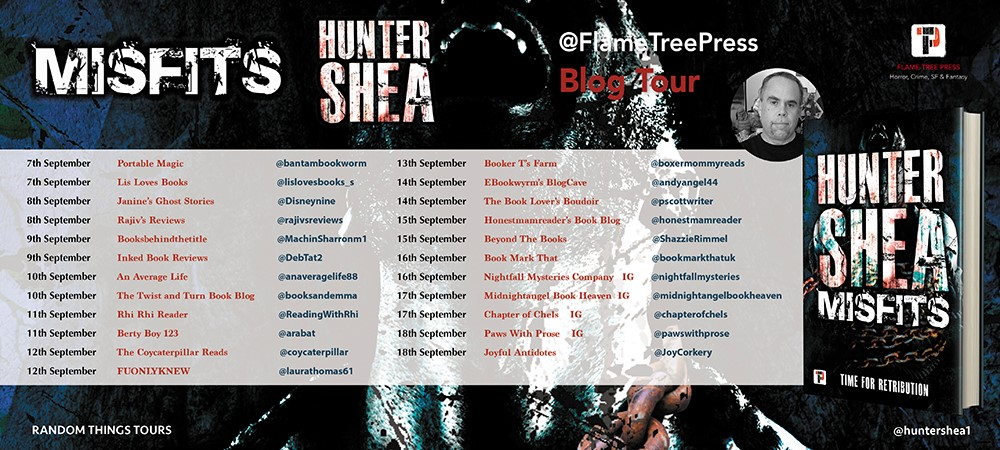 Blog Tour Book Review; Misfits- Hunter Shea