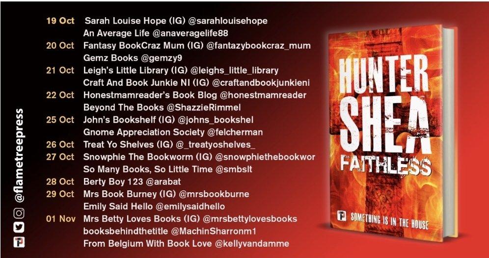 Book Review BlogTour; Faithless- HunterShea